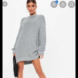 Misguided grey sweater dress